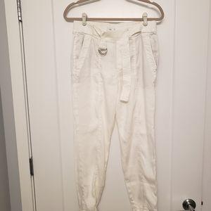 Vince White Linen Blend Pants